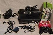 Microsoft Xbox 360 250 Gb Black With Kinect Zoom 9 Games + 65 Games On Drive