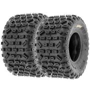 Pair Of 2 18x10-8 18x10x8 Quad Atv All Terrain At 6 Ply Tires A035 By Sunf