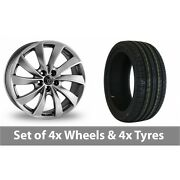 4 X 17 Wolfrace Lugano Shadow Chrome Alloy Wheel Rims And Tyres - 245/70/16