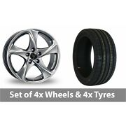 4 X 18 Wolfrace Catania Shadow Chrome Alloy Wheel Rims And Tyres - 235/45/18