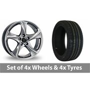 4 X 18 Wolfrace Catania Shadow Chrome Alloy Wheel Rims And Tyres - 245/50/18