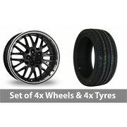 4 X 17 Wolfrace Norano Black Alloy Wheel Rims And Tyres - 225/60/17