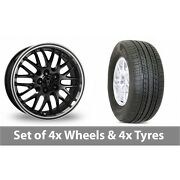 4 X 17 Wolfrace Norano Black Alloy Wheel Rims And Tyres - 235/65/17