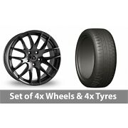 4 X 20 Wolfrace Munich Black Alloy Wheel Rims And Tyres - 275/45/20