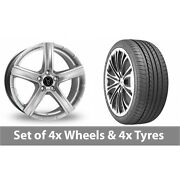 4 X 20 Wolfrace Quinto Suv Silver Alloy Wheel Rims And Tyres - 275/35/20