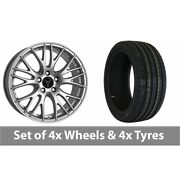4 X 19 Wolfrace Perfektion Silver Alloy Wheel Rims And Tyres - 225/35/19