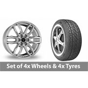 4 X 18 Wolfrace Temper 6 Silver Alloy Wheel Rims And Tyres - 225/65/18