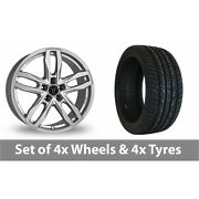 4 X 20 Wolfrace Temper Silver Alloy Wheel Rims And Tyres - 255/45/20