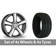 4 X 18 Dezent High Gloss Alloy Wheel Rims And Tyres - 225/40/18
