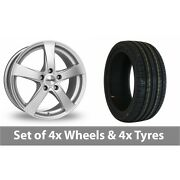 4 X 19 Dezent Re Silver Alloy Wheel Rims And Tyres - 245/40/19