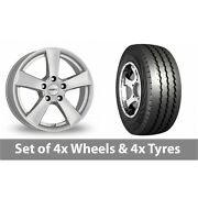 4 X 15 Dezent Tx Silver Alloy Wheel Rims And Tyres - 225/70/15