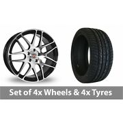 4 X 20 Calibre Exile Black Polished Alloy Wheel Rims And Tyres - 295/40/20