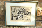 Walter Bohl Signed Rare Etching Wood Ducks Artist Duck Stamps