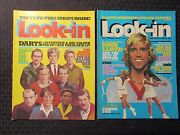 1978 Look-in Uk Magazine 25 27 Fn/fn+ Lot Of 2 - Darts And Tennis Pin-up