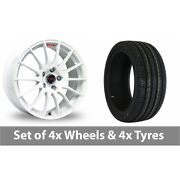 4 X 15 Fox Racing Fx004 White Alloy Wheel Rims And Tyres - 205/60/15