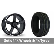 4 X 19 Fox Racing Ms003 Alloy Wheel Rims And Tyres - 235/40/19