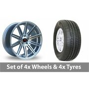 4 X 19 Axe Ex15 Silver Polished Alloy Wheel Rims And Tyres - 255/50/19