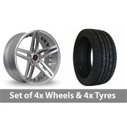 4 X 20 Axe Ex20 Silver Polished Alloy Wheel Rims And Tyres - 255/45/20