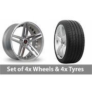 4 X 20 Axe Ex20 Silver Polished Alloy Wheel Rims And Tyres - 265/30/20