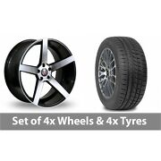 4 X 19 Axe Ex18 Black Polished Alloy Wheel Rims And Tyres - 265/30/19