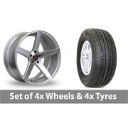 4 X 19 Axe Ex18 Silver Polished Alloy Wheel Rims And Tyres - 255/50/19