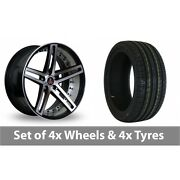 4 X 22 Axe Ex20 Black Polished Alloy Wheel Rims And Tyres - 305/40/22
