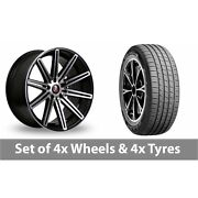 4 X 19 Axe Ex15 Black Polished Alloy Wheel Rims And Tyres - 255/45/19
