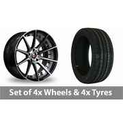 4 X 20 Axe Ex16 Polished Alloy Wheel Rims And Tyres - 245/40/20