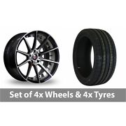 4 X 19 Axe Ex16 Polished Alloy Wheel Rims And Tyres - 225/40/19
