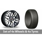 4 X 20 Axe Ex30 Black Polished Alloy Wheel Rims And Tyres - 275/45/20
