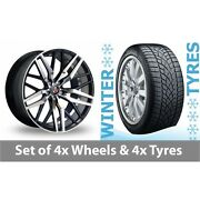 4 X 20 Axe Ex30 Black Polished Alloy Wheel Rims And Tyres - 265/35/20