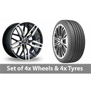 4 X 20 Axe Ex30 Black Polished Alloy Wheel Rims And Tyres - 275/35/20