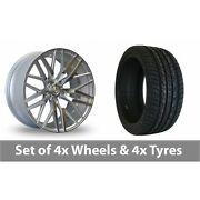 4 X 20 Axe Ex30 Silver Polished Alloy Wheel Rims And Tyres - 275/40/20
