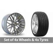 4 X 20 Axe Ex30 Silver Polished Alloy Wheel Rims And Tyres - 265/30/20