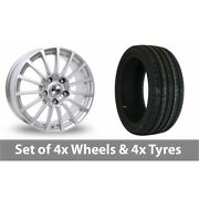 4 X 15 Tekno Rx11 Silver Alloy Wheel Rims And Tyres - 195/45/15