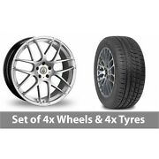 4 X 20 Cades Bern Accent Silver Alloy Wheel Rims And Tyres - 225/35/20