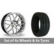 4 X 20 Cades Bern Accent Silver Alloy Wheel Rims And Tyres - 255/35/20