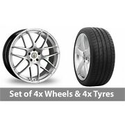 4 X 20 Cades Bern Accent Silver Alloy Wheel Rims And Tyres - 265/30/20