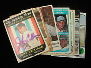 Group Of 7 Autographed Johnny Callison Baseball Cards