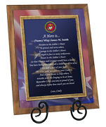 Usmc Retirement Homecoming Award Recognition Promotion Marine Corps Plaque Love