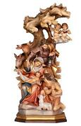 Pema Hand Carved And Painted Block Nativity Scene - 12 From Italy