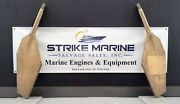 Bronze Marine Rudder With Shaft Od 55mm Overall Length 1074mm