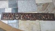 Antique19c Chinese Wood Carved Pierced Gilt Temple Panels Of Court Scene 1