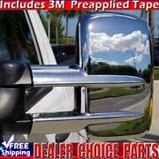 1999-2015 Chevy Silverado Sierra 2500 3500 Chrome Mirror Covers Towing Overlays
