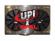 12 Dual Spal Fans On Aluminum Shroud With Louvers 25.687 X 18.375 - Made Usa