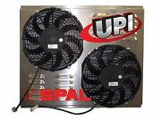10 Dual Spal Fans On Aluminum Shroud With Louvers 22.00 X 17.25 - Made Usa