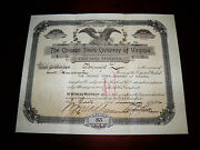 Stock Certificate Owned/signed By Confederate General Fitzhugh Lee