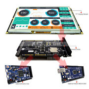 9 Inch Tft Lcd Resistive Touch Ssd1963 Shield For Arduino Duemega 2560 Library