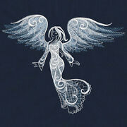 Angel Beauty Set Of 2 Bath Hand Towels Embroidered By Laura