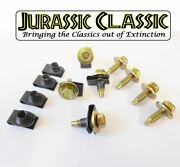 46-80 Ford 8pk 5/16-18 Body Fender U-nuts And Yellow Zinc Hex Head Bolts W Washers